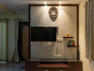 2BHK, Masjid Banda Modern living room by Celestial Designs Modern