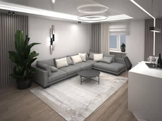 Квартира для мудрой пары: Гостиная в . Автор – Tafeta студия дизайна,