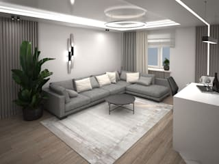Salas de estilo minimalista de Tafeta студия дизайна Minimalista