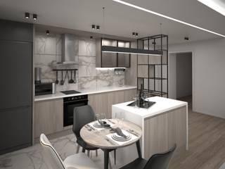 Квартира для мудрой пары Гостиная в стиле минимализм от Tafeta студия дизайна Минимализм