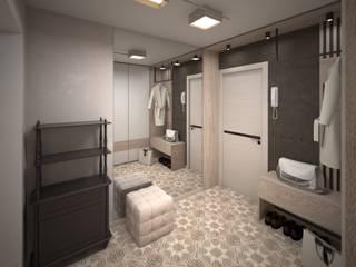 Pasillos, vestíbulos y escaleras de estilo minimalista de Tafeta студия дизайна Minimalista