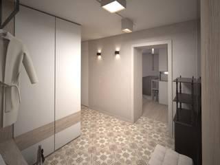 Квартира для мудрой пары_коридор Коридор, прихожая и лестница в стиле минимализм от Tafeta студия дизайна Минимализм