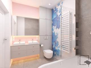Tradycyjnie nietradycyjnie. Nowoczesna łazienka od 4 kąty a stół 5 Pracownia Projektowa Ewelina Białobrzewska Nowoczesny