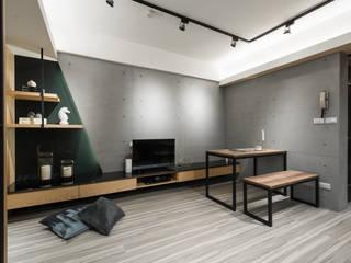 電視牆 你你空間設計 Hotels Wood Grey