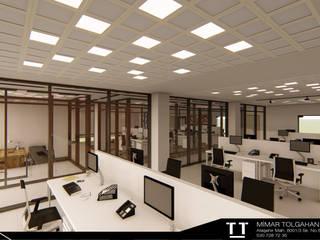 TT MİMARLIK Modern study/office Aluminium/Zinc Metallic/Silver