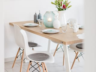 stamm[tisch] design GmbH Dining roomTables Solid Wood White