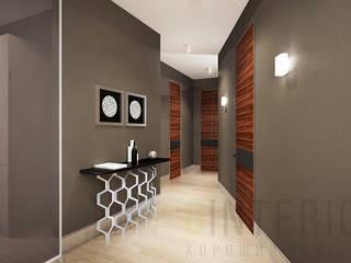 Дизайн студия 'Хороший интерьер' Modern corridor, hallway & stairs