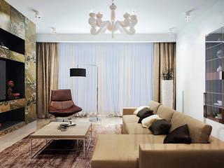 Modern living room by Дизайн студия 'Хороший интерьер' Modern