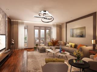 Sala de jantar e espaço varanda de uma vivenda no Gerês Alpha Details Salas de estar modernas