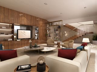 Sala de estar - Moradia em Felgueiras Alpha Details Salas de estar modernas