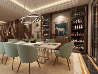 Sala de jantar e Hall de entrada - T2 Geneve Alpha Details Salas de jantar modernas
