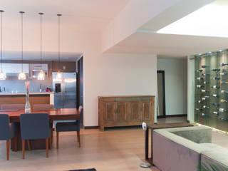 Departamento Be Grand Salones modernos de NATALIA MENACHE ARQUITECTURA Moderno