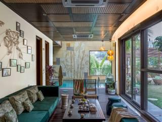 Indoor-Outdoor Villa Modern pool by Art Space Design studio Modern