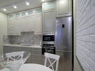 3-комнатная квартира в г.Краснодаре Кухня в стиле модерн от Студия интерьерного дизайна happy.design Модерн
