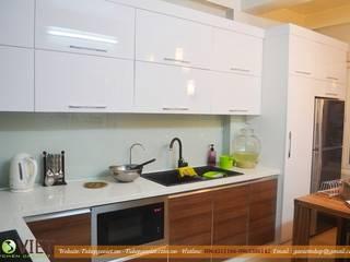Thiết kế thi công tủ bếp tại hà nội giá rẻ và bền bỉ: hiện đại  by TỦ BẾP GỖ VIỆT, Hiện đại