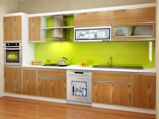 Thiết kế tủ bếp chữ I cho không gian phòng bếp nhỏ: hiện đại  by TỦ BẾP GỖ VIỆT, Hiện đại