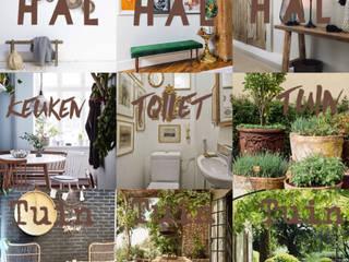 Nieuw thuis in de Franse Ardennen Landelijke gangen, hallen & trappenhuizen van Vonk interieur & design Landelijk