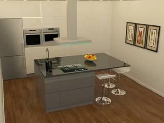 Região Centro: Apartamento arrojado: Cozinhas pequenas  por Casactiva Interiores,Moderno