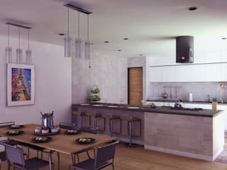 Modern Dining Room by TECTONICA STUDIO SAC Modern