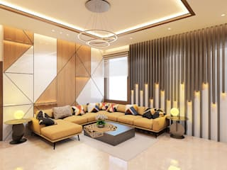 Modern Living Room by Petals Art Decor Modern
