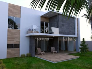 RESIDENCIA SALCEDO: Terrazas de estilo  por URITA arquitectos,