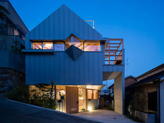 FUMIASO ARCHITECT & ASSOCIATES/ 阿曽芙実建築設計事務所 Single family home Metal