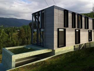 CASA VISTA VOLCAN: Casas de madera de estilo  por Vetas Sur, Moderno