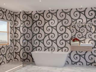 g Modern Banyo Deborah Garth Interior Design International (Pty)Ltd Modern