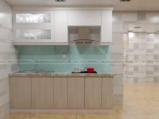 Lý do nên sử dụng tủ bếp acrylic vân gỗ với phong cách hiện đại bởi Nội thất Nguyễn Kim