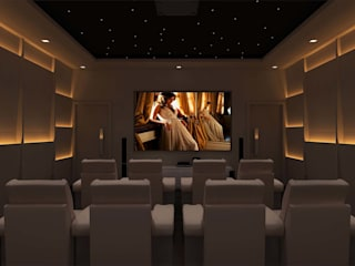 Amritsar Villa Modern Media Room by De Panache - Interior Architects Modern