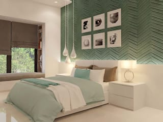 Brigade Mysore Modern Bedroom by De Panache - Interior Architects Modern