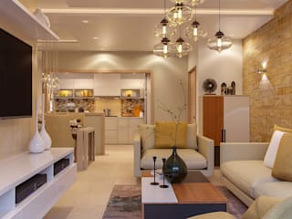 Brigade Property Modern Living Room by De Panache - Interior Architects Modern