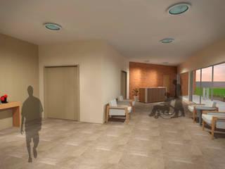 Pasillos, vestíbulos y escaleras de estilo moderno de Fávero Arquitetura + Interiores Moderno