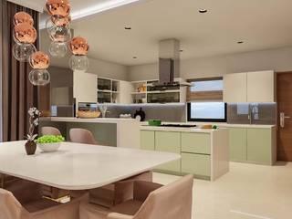 Villa at Kannakpura Modern Kitchen by De Panache - Interior Architects Modern