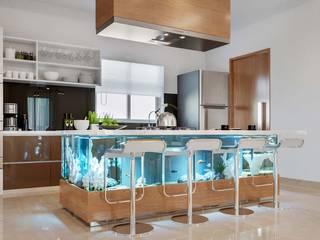 Maya Indradhanush Modern Kitchen by De Panache - Interior Architects Modern
