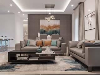Maya Indradhanush Modern Living Room by De Panache - Interior Architects Modern