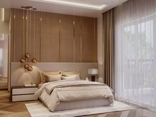 Prestige Ferns Residency Modern Bedroom by De Panache - Interior Architects Modern