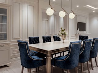 Prestige Ferns Residency 2 Classic style dining room by De Panache - Interior Architects Classic