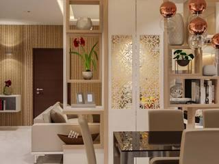 Prestige Silver Oak Modern Dining Room by De Panache - Interior Architects Modern