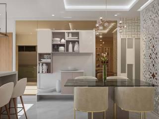 Sobha Indraparastha Modern Dining Room by De Panache - Interior Architects Modern