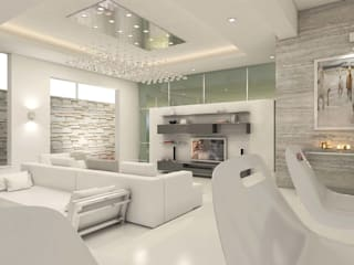 Total Environment Modern Living Room by De Panache - Interior Architects Modern