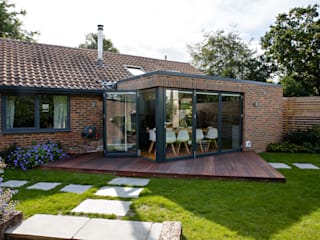 Chichester eco-build extension and refurbishment Casas modernas por dwell design Moderno