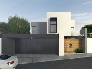 RESIDENCIAL P. PURUA Casas modernas de TANGENTE ARQUITECTURA Y CONSTRUCCIÓN Moderno