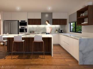 RESIDENCIAL P. PURUA Cocinas modernas de TANGENTE ARQUITECTURA Y CONSTRUCCIÓN Moderno