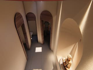 CASA SAN LUIS 322 Pasillos, vestíbulos y escaleras eclécticos de RUBIO + TOVAR ARQUITECTOS Ecléctico