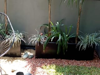 Pequeña terraza VIVERO XOCHIQUETZAL Jardines de piedra Piedra Multicolor