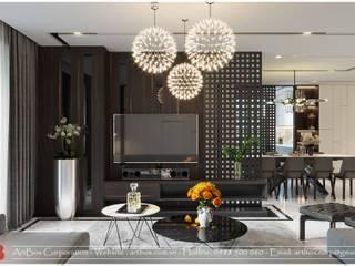 Thiết kế nội thất căn hộ chung cư Diamond Thiết Kế Nội Thất - ARTBOX Living roomTV stands & cabinets