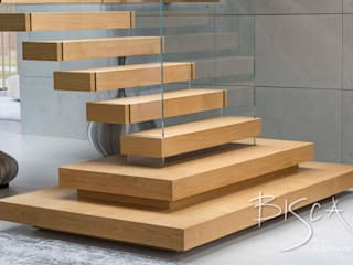 4359 - Feature Staircase with Floating Treads by Bisca Staircases Modern