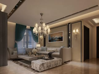 Residential Space:  Living room by Crystaspace,