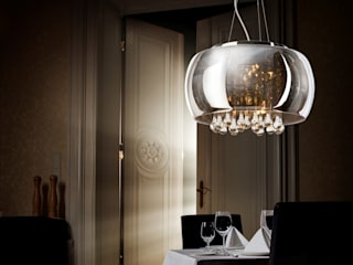 Exclusive pendant light BURN with crystals Luxury Chandelier Modern dining room Glass Metallic/Silver